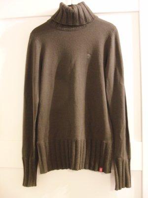 Rollkragen-Pullover von Esprit edc, Gr. 36, khaki