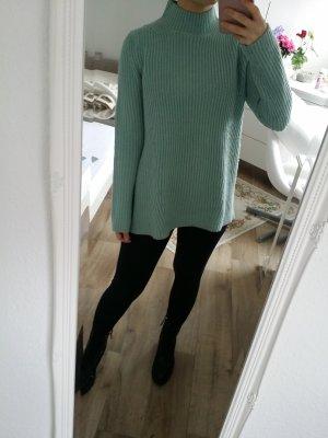 Rollkragen Pullover Wollpullover Winter Mint
