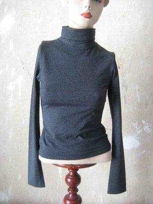 Rollkragen Shirt in dunklem Grau - casual Look