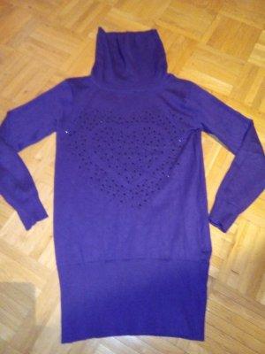 Turtleneck Sweater brown violet