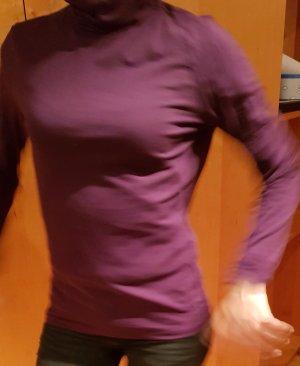 Camisa de cuello de tortuga violeta oscuro Algodón