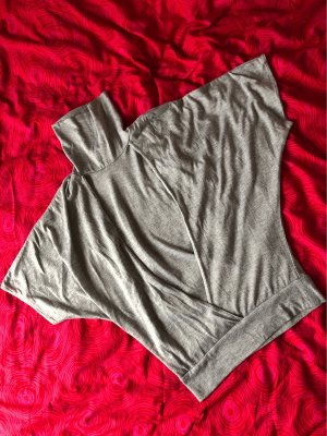 Blind Date Wraparound Shirt light grey