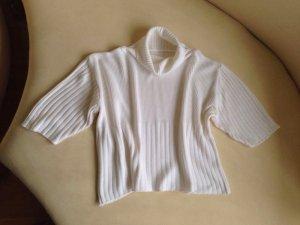 Maglione a maniche corte bianco