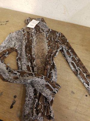 Zara Camisa de cuello de tortuga marrón