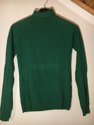 Blind Date Turtleneck Sweater forest green cotton