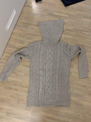 Maglione dolcevita marrone-grigio