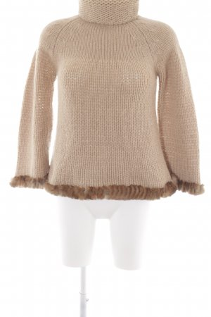 Turtleneck Sweater beige-brown casual look