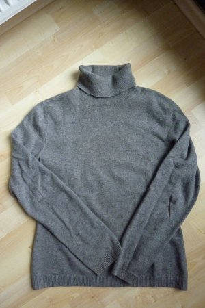 Benetton Turtleneck Sweater grey cashmere