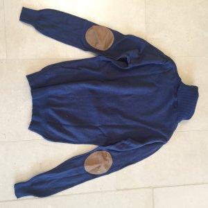 Big Star Jersey de cuello alto azul oscuro-marrón