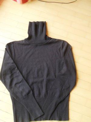 Rollkragenpullover  feines Material schwarz