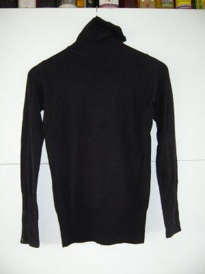 Rollkragenpullover Feinstrick schwarz Zara S 36