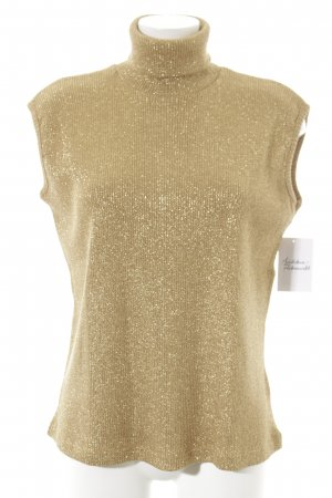 Turtleneck Sweater gold-colored glittery
