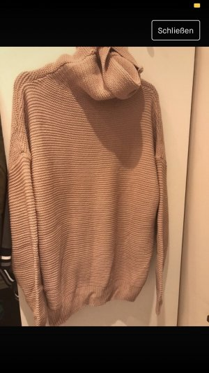 Coarse Knitted Sweater pink