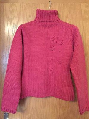 Turtleneck Sweater raspberry-red