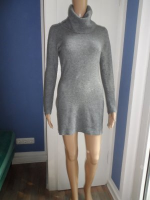 Rollkragenpullover-Kleid Rippstrick mit Kaschmir