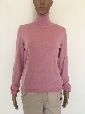 Marc O'Polo Pull-over à col roulé rose clair-rose laine mérinos