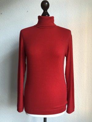 Maglione dolcevita rosso-rosso scuro