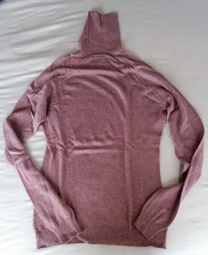 Rollkragenpullover Pullover leicht flieder-rosa pastell Gr. S