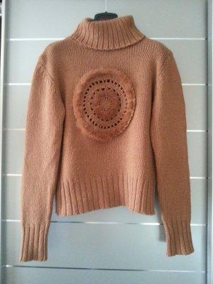 Rollkragenpullover / Pullover von Taifun Collection, braun, Größe 38 / M