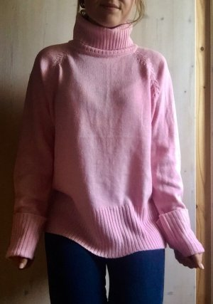 Maglione dolcevita rosa Acrilico
