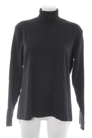 Rollkragenpullover schwarz minimalistischer Stil