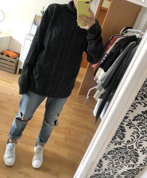 Jersey de punto gris-gris oscuro