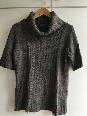 Esprit Sweater met korte mouwen grijs-bruin-taupe Gemengd weefsel