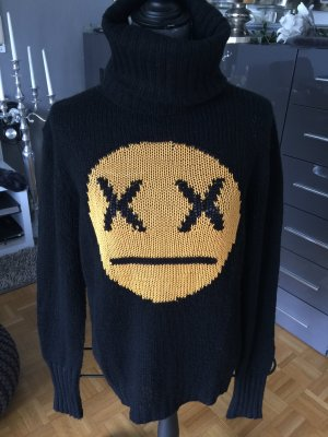 Rollkragenpullover Wildfox Bad Smiley schwarz S
