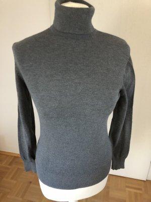H&M Jersey de cuello alto gris