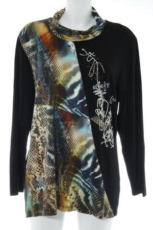 Turtleneck Shirt animal pattern casual look