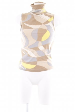 Colshirt beige-geel abstract patroon