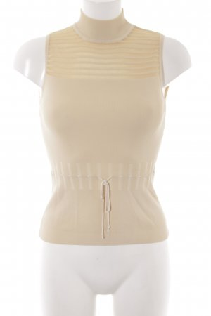 Turtleneck Shirt cream-gold-colored casual look