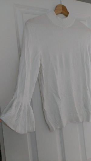 H&M Divided Turtleneck Sweater natural white-white