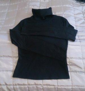 SheIn Camisa de cuello de tortuga negro