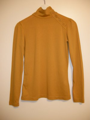 Mexx Turtleneck Shirt ocher-dark orange cotton