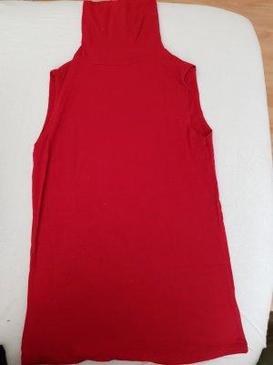 Motivi Top con colletto arrotolato rosso-rosso scuro