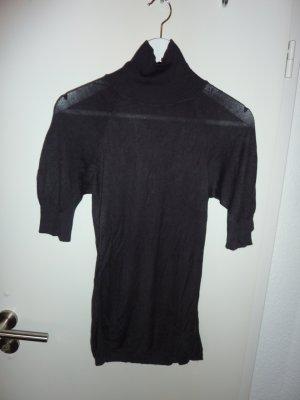 Rollkragentop in schwarz-braun