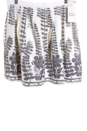 roma e tozka Jupe ballon blanc-gris foncé motif abstrait style extravagant