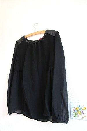 Slip-over blouse zwart-goud Polyester