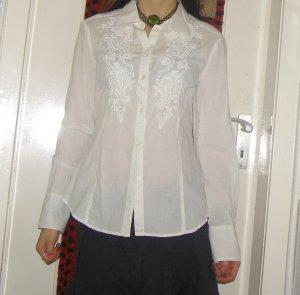 romantisch bestickte Bluse S/M