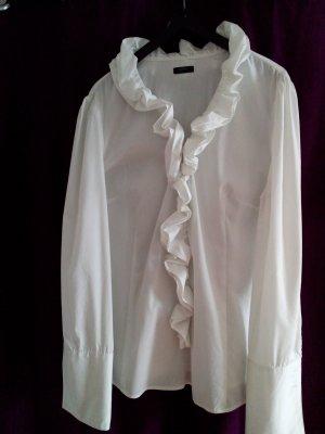 esprit collection Ruche blouse wit Katoen