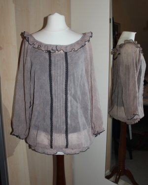 Romantische Bluse in Rosé