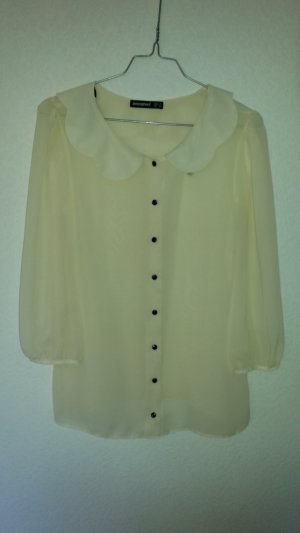 Atmosphere Transparent Blouse black-pale yellow polyester