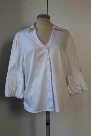Blusa in lino bianco Cotone