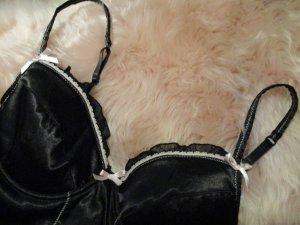Bustino nero-rosa pallido Tessuto misto
