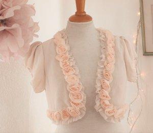Romantische, kurzgeschnittene Bluse/Blazer