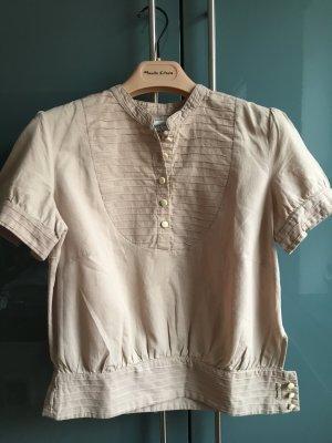 Romantische Noa Noa Bluse, Cultural Cotton, hellbeige, Gr.S,