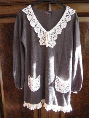 Romantische Tunika Strickkleid von Yumi Gr. M-L