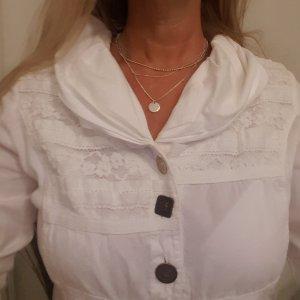 Romantische weiße Bluse