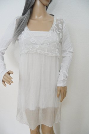 Romantische weisse Bluse Made in Italy Seide